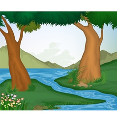 Tree and nature background vector image