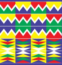 Tribal kente geometric seamless pattern african vector