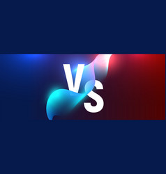 versus battle neon vs background blue and red vector image