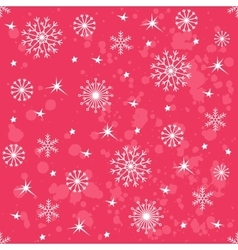 Winter red background with snowflakes vector
