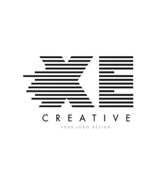 Xe x e zebra letter logo design with black and vector
