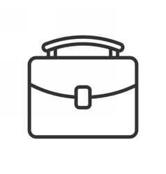 Briefcase outline icon vector image vector image