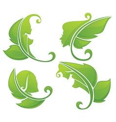 eco beauty vector image vector image