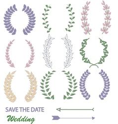 Mixed laurel wreaths vector