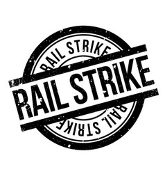 rail strike rubber stamp vector image