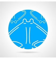Stingray abstract round icon vector