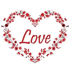 Valentines Love Heart Shape with drawing effect vector image