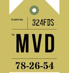 Vintage luggage tag vector