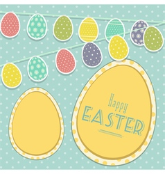 Easter vintage background with egg bunting vector image vector image