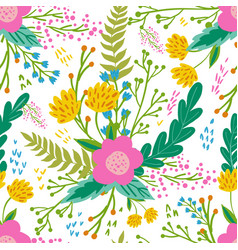 beautiful floral seamless pattern in gentle colors vector image vector image
