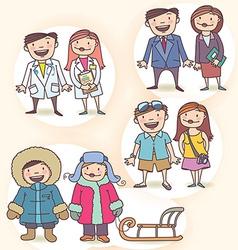 Cartoon Characters Set vector image