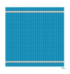 Knitted Seamless Blue Background vector image vector image
