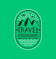 Linear badge in trendy linear style vector