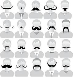 Moustaches set mustache icons vector image