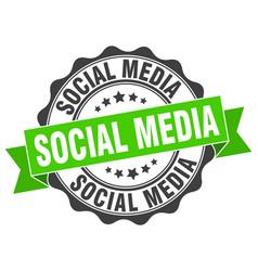 Social media stamp sign seal vector
