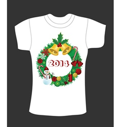 Christmas t-shirt deisgn vector image