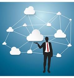 Cloud Computing Working vector image vector image