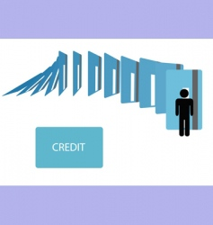 credit card debt vector image vector image