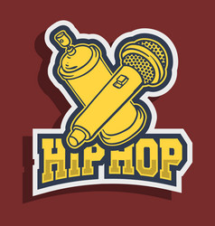 hip hop sticker design with graffiti paint can vector image