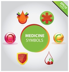 Medical icons and symbols set vector image vector image