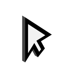 Replacement cursor icon isometric 3d style vector image vector image