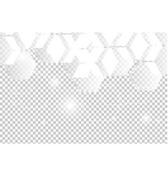 abstract white geometric hexagon vector image
