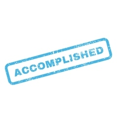Accomplished text rubber stamp vector