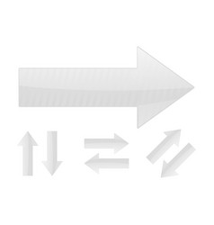 arrows set of white web signs vector image