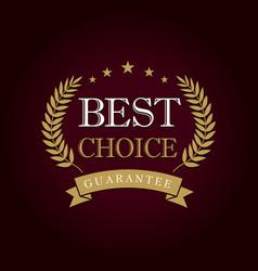 best choice logo concept vector image