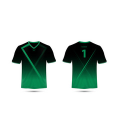 black and green layout sport t-shirt design vector image