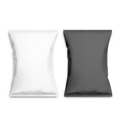 black and white realistic polyethylene bag vector image