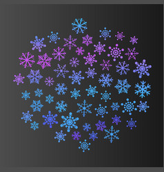 black winter new year background with colored vector image