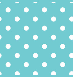 blue polka dot seamless pattern vector image