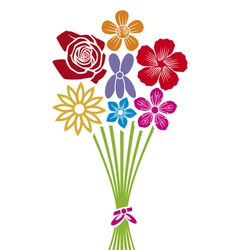 Bouquet of flowers vector
