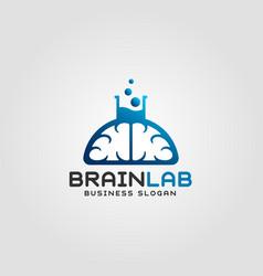 brain lab logo template vector image