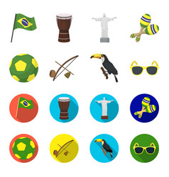 Brazil country ball football brazil country vector