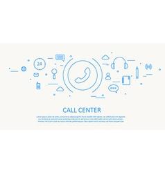 call center flat thin design vector image