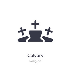Calvary icon isolated calvary icon from religion vector