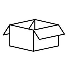 Carton box packing icon vector