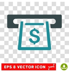 Cashout Slot Icon vector image