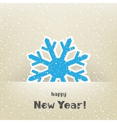 Christmas card and snow vector image