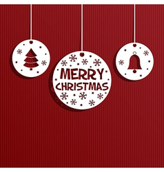 christmas paper decoration vector image