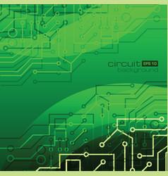Circuit background in green vector