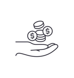 coins line icon concept coins linear vector image