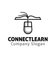 Connect learn Design vector image