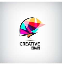 Creative mind logo brain vector