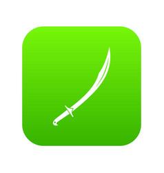 Cutlass icon digital green vector