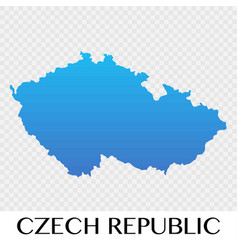 czech republic map in europe continent design vector image