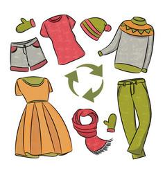 dress recycling global world ecological problem ve vector image