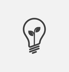 Eco lightbulb icon idea icon vector
